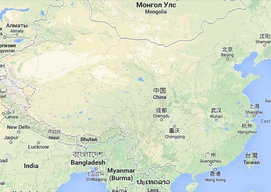 auto Čína mapa Google Maps