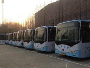 auto elektrobus BYD elektrické autobusy Čína