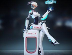 auto sexy robotka TESS Tesla