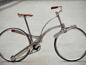 Italské skládací jízdní kolo lze složit do velikosti deštníku