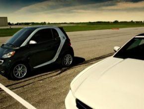 auto Smart ED elektromobil do města Kanada televizní reklama