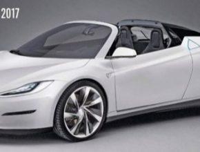 auto Tesla Model R - nový Roadster pro rok 2017