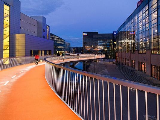 Cyklistický viadukt v Kodani