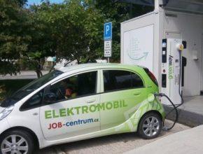 auto rychlodobíječka Bratislava elektromobil Peugeot iOn