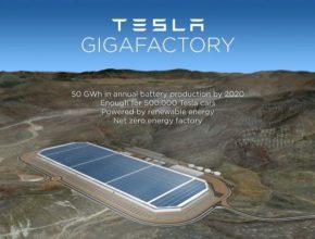auto gigatovárna Tesla Motors Nevada
