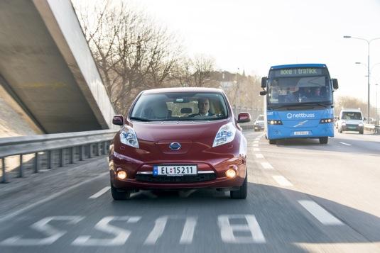 auto elektromobily Nissan Leaf Norsko