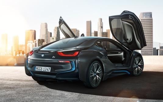 auto BMW i8 plug-in hybrid wallpaper