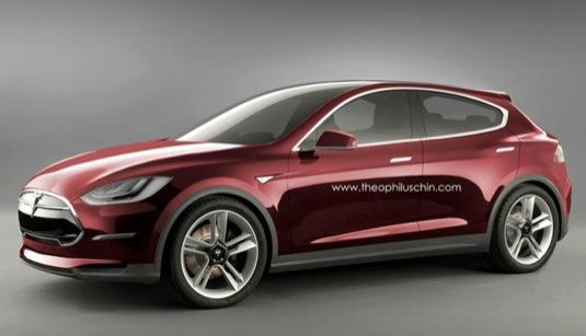 auto elektromobil Tesla Model 3 Theophilus Chin render elektroauto auto