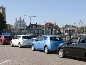 auto elektromobily Nissan Leaf ostrov sdílení