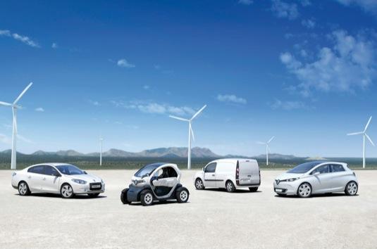 auto elektromobily Renault Zoe, Twizy, Fluence a Kangoo Z.E.