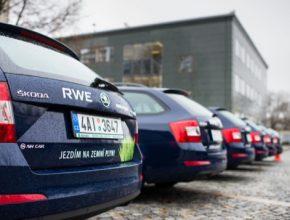 auto Škoda Octavia G-TEC s pohonem na CNG (stlačený zemní plyn) skupiny RWE