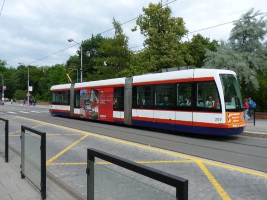 auto tramvaje Olomouc rozšíření tratí