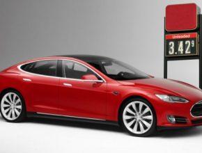auto elektromobil Tesla Motors cena benzínu