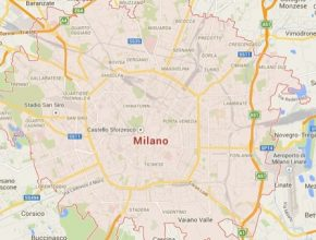 auto Itálie Milano mapa