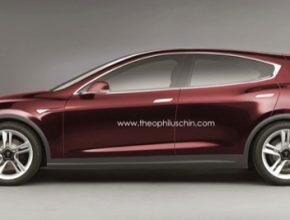 auto Tesla Model 3 elektromobil koncept Theophil Uschin