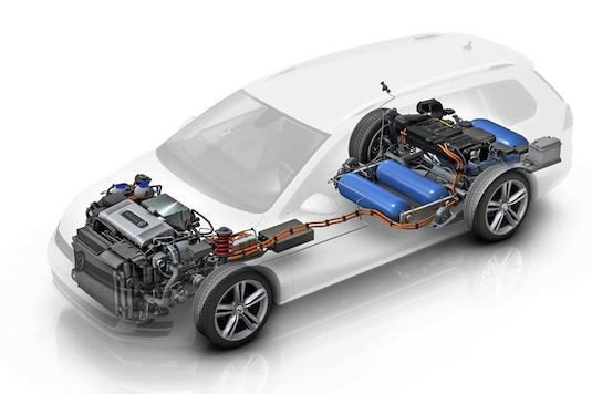 auto Volkswagen Golf SportWagen HyMotion auto na vodík z Německa