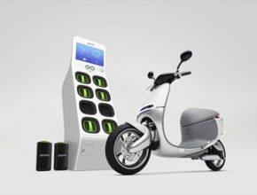auto Gogoro SmartScooter elektroskútr elektrický skútr výměnné baterie CES 2015