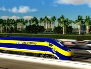 auto vysokorychlostní železnice trať rychlovlaky Kalifornie