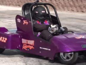 auto golfový vozík dragster Terry Hatfield závody