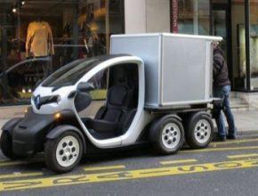 auto Renault Twizy Delivery Concept elektrická nákladní dodávka