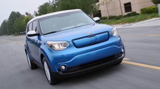 auto test elektromobilu Kia Soul EV
