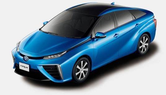 auto Toyota Mirai auto na vodík