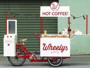 auto Wheelys 2 elektrická tříkolka a pojízdná kavárna