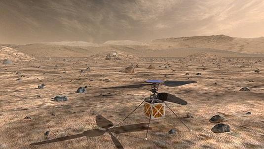 Vrtulník na Marsu