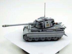 auto Německý tank Tiger s pohonem na elektřinu