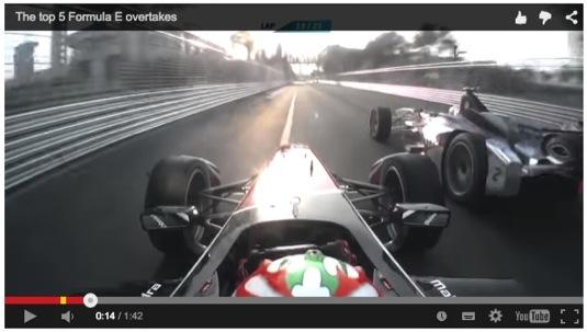 auto Formule E závody elektrických formulí