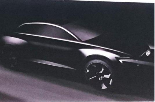 auto Audi Q6 e-tron koncept elektromobilu konkurence Tesla Model X