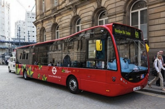 auto Londýn elektrobus Optare MetroCity