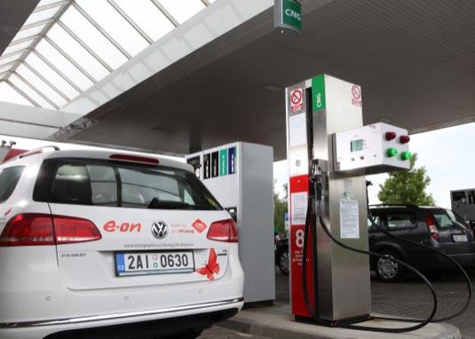 auto plnící CNG stanice Humpolec