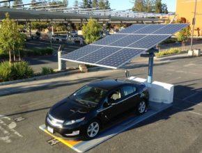 auto solární nabíječka dobíjecí stanice pro elektromobily San Francisko