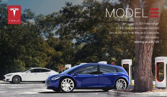 auto elektromobil Tesla Model 3 James Stumpf