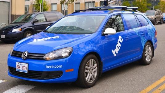 auto Nokia HERE mapy navigace