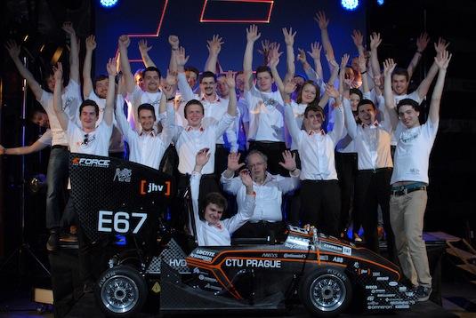Už čtvrtá generace elektrické formule studentů ČVUT