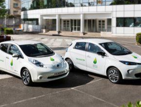 auto elektromobily Nissan Leaf a Renault Zoe