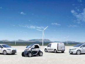 auto Renault Nissan elektromobily Twizy, Fluence Kangoo Zoe