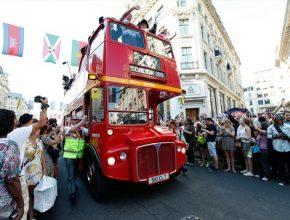 auto Londýn autobus doubledecker Olympijské hry 2012