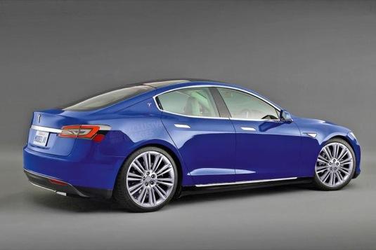 auto elektromobily Tesla Model 3 rendering