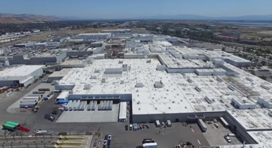 továrna Tesla Motors Fremont Video 4K