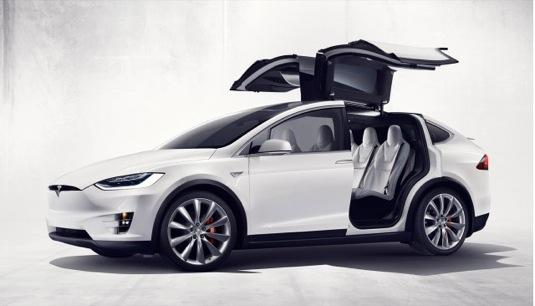 auto elektromobil SUV Tesla Model X