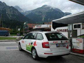auto dovolená na CNG zemní plyn Škoda OCtavia G-TEC E.ON