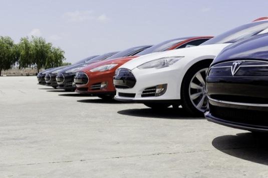 auto elektromobily Tesla Model S dodávky