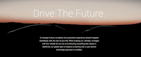 auto elektromobil Faraday Future