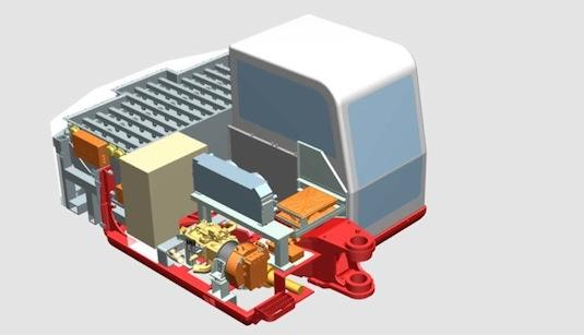 Švýcarský elektrický bagr Suncar