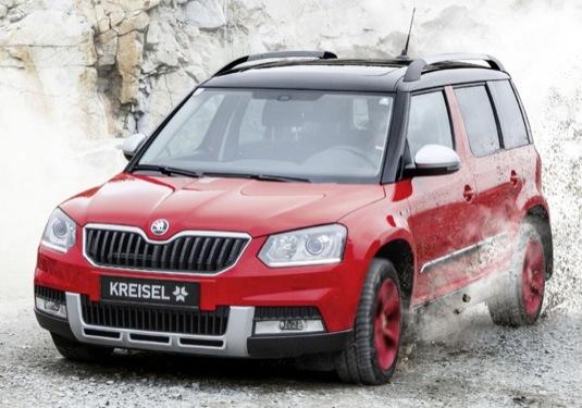 auto elektromobil elektrická přestavba Škoda Yeti rakouské společnosti Kreis Electric