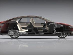 auto elektromobil Tesla Model S řez autem