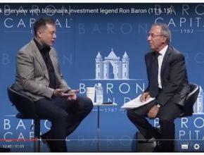 auto Elon Musk zakladatel Tesla Motors Ron Baron investiční konference interview rozhovor